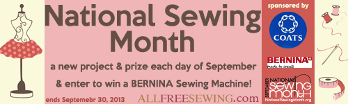 National Sewing Month 2013