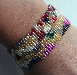 Simple and Colorful Seed Bead Loom Bracelets