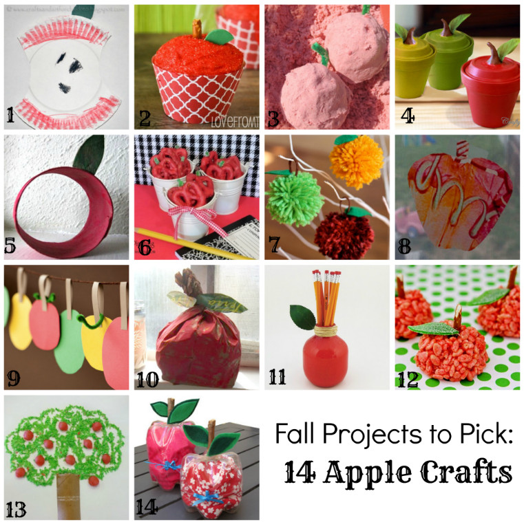 fall crafts for kids apple crafts