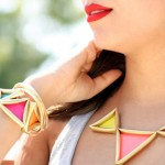 Golden Glam Pyramid Jewelry