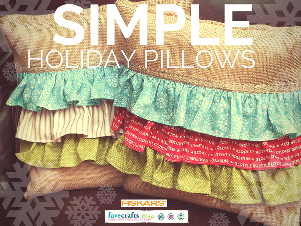 Find the Simple Holiday Pillows tutorial in our free eBook, Homemade Christmas Gifts: 14 Gift Ideas and DIY Home Décor