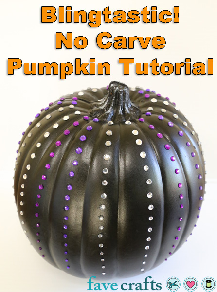 No Carve Pumpkin for Halloween