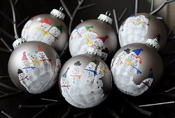 Snowman-Family-Handprint-Ornaments