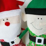 Snuggly Christmas Character Rice Bags
