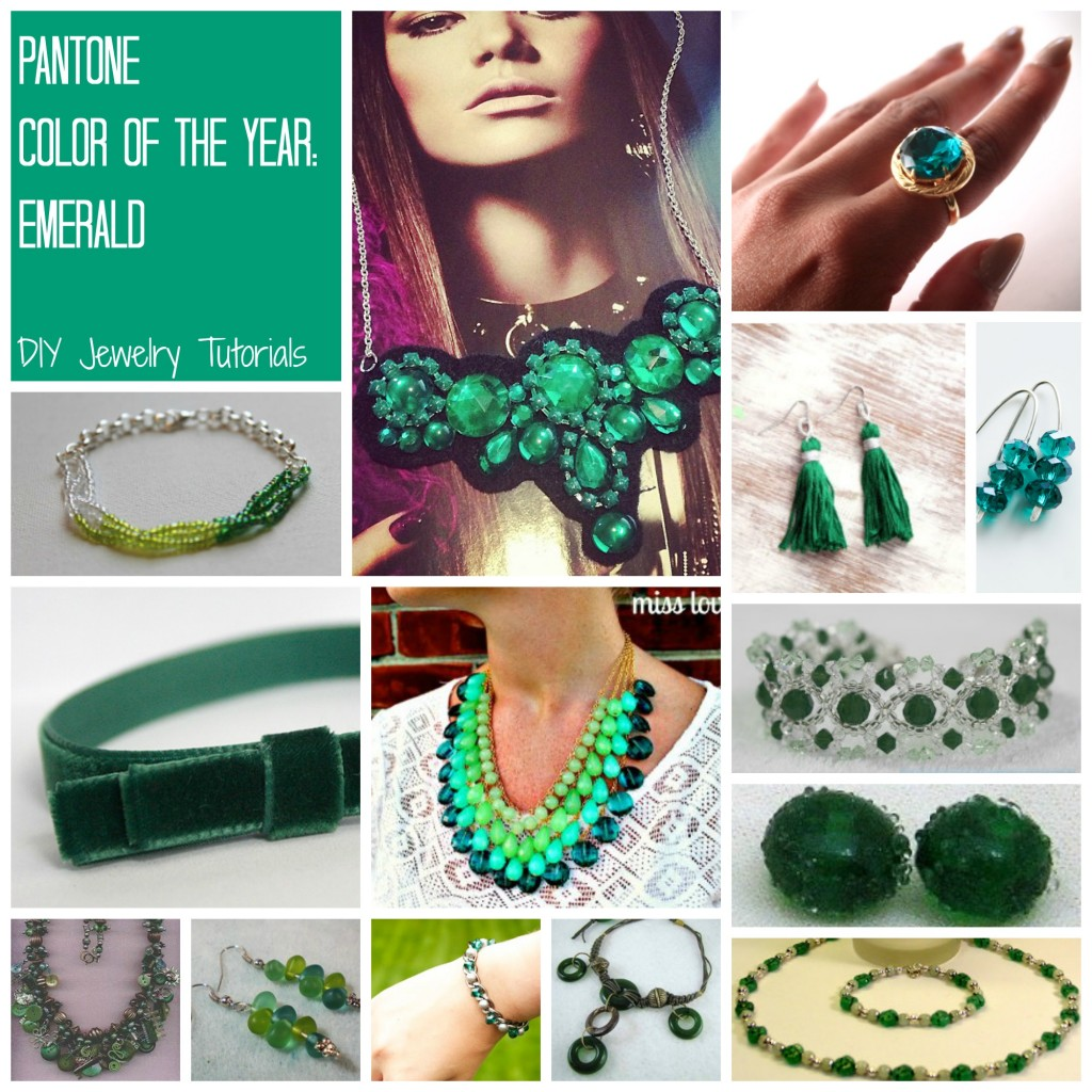 emerald 1024x1024 DIY Jewelry Color Crush: Pantone Color of the Year, Emerald