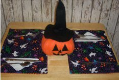 Reversible Fall Holidays Quilted Placemats