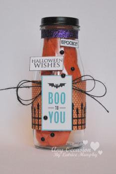 spooky jar Halloween How To: Spooky Glass Bottles