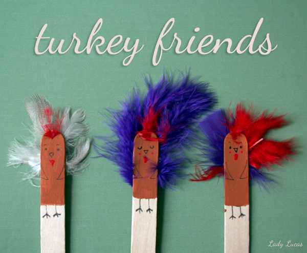 Thanksgiving Crafts For Kids Craft Stick Turkey Friends