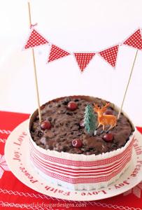 20 Minute Festive Christmas Cake Frill