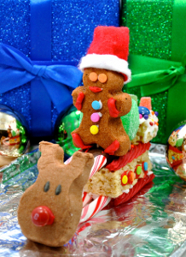 delicious diy use peeps to make a christmas candy sleigh - Christmas Candy Sleigh