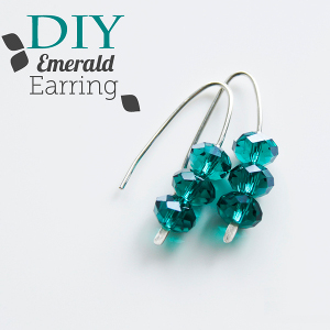 Emerald earring tutorial What a Gem! 21 DIY Jewelry Projects with Gemstones