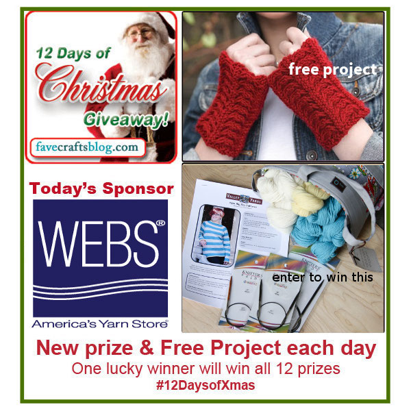 Knitting Pattern 12 Days Of Christmas : Knit A Pair of Fingerless Mitts: 12 Days of Christmas Giveaway - FaveCrafts