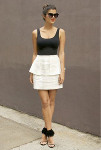 Side Peplum Skirt