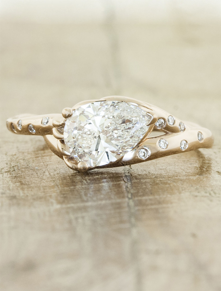 nature inspired engagement rings - Nature Inspired Wedding Rings
