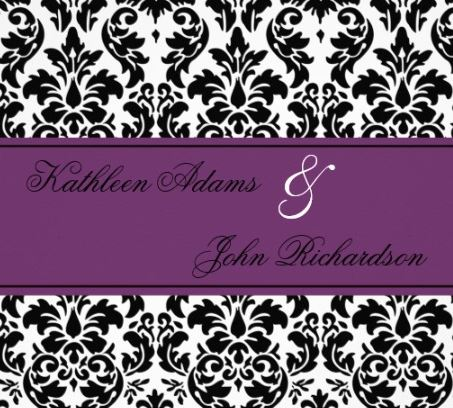 Radiant Orchid Wedding Invitation