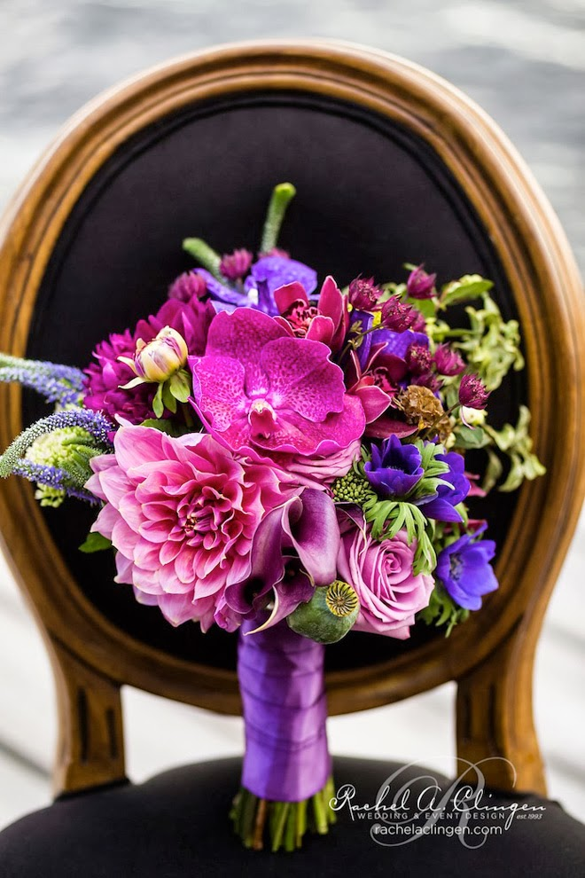 Purple Wedding Flowers Bouquet