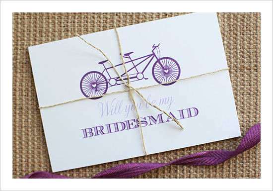 Bicycle Bridesmaids Invite