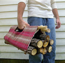 Firewood carrier 5 Sewn Gifts for Men This Valentines Day