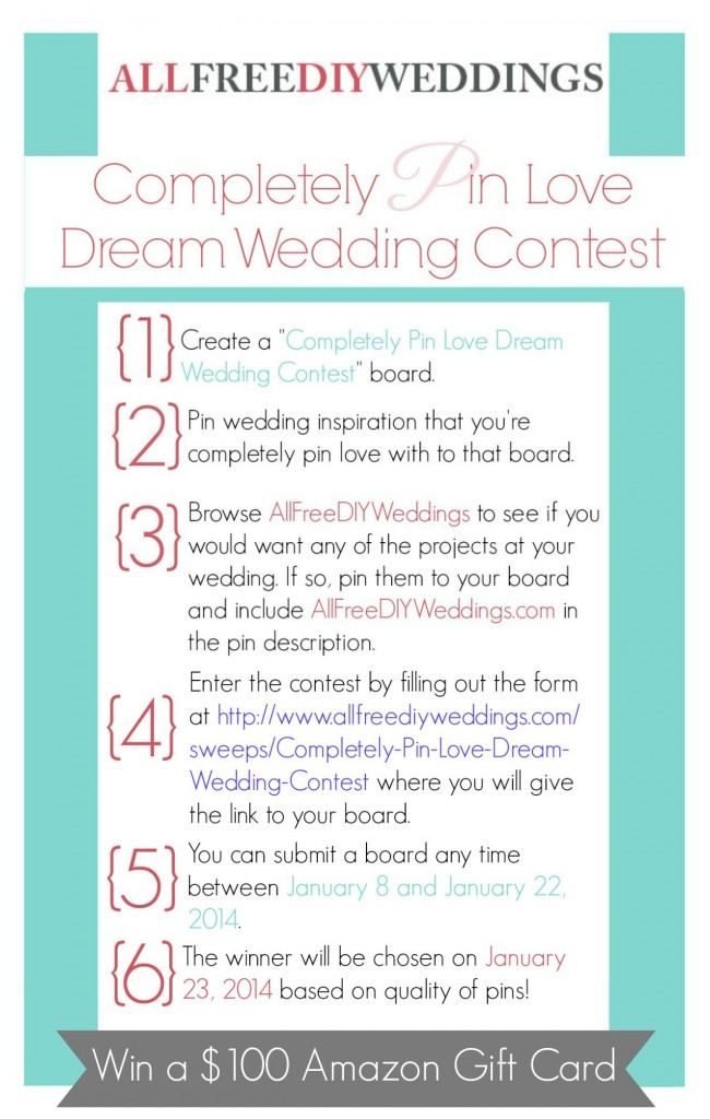 Pinterest contest4 650x1024 Completely Pin Love Dream Wedding Contest   Win $100