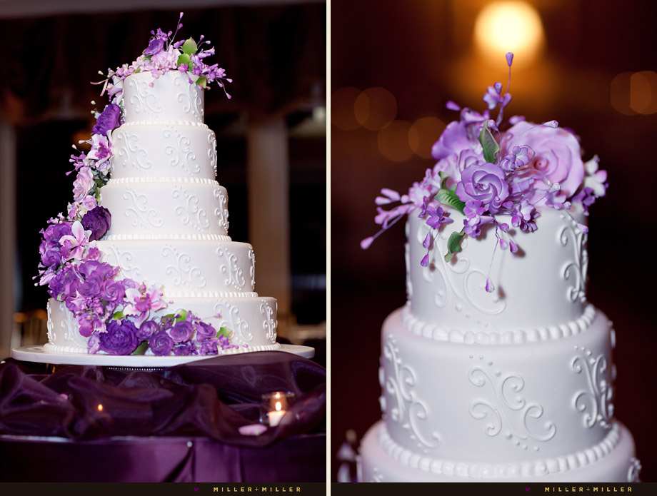 oak mill bakery purple wedding cake 17 Ways to Make Radiant Orchid Happen in Your Wedding