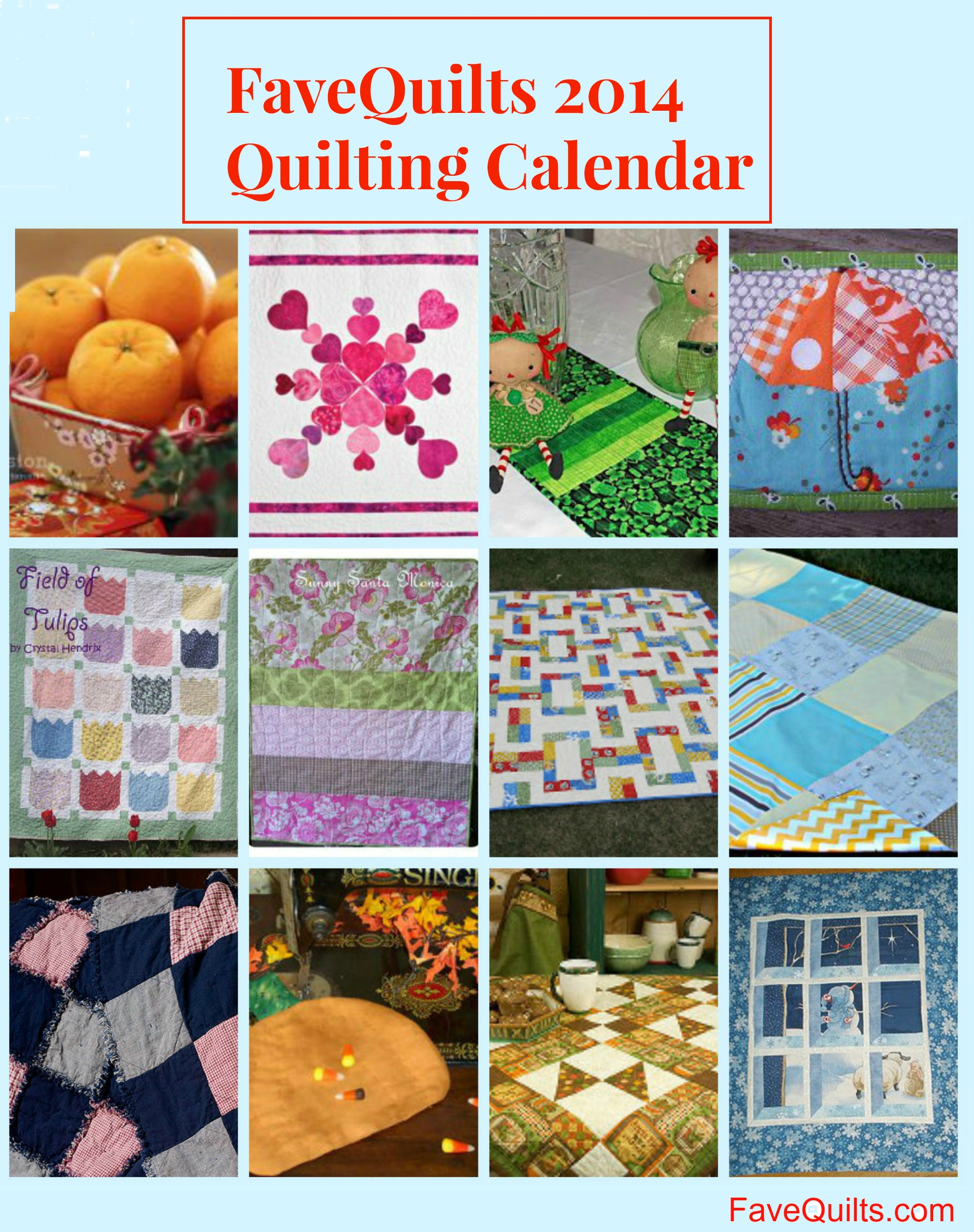 quilt calendar 2 A Year of Quilts: Our Favorite Seasonal Free Quilt Patterns