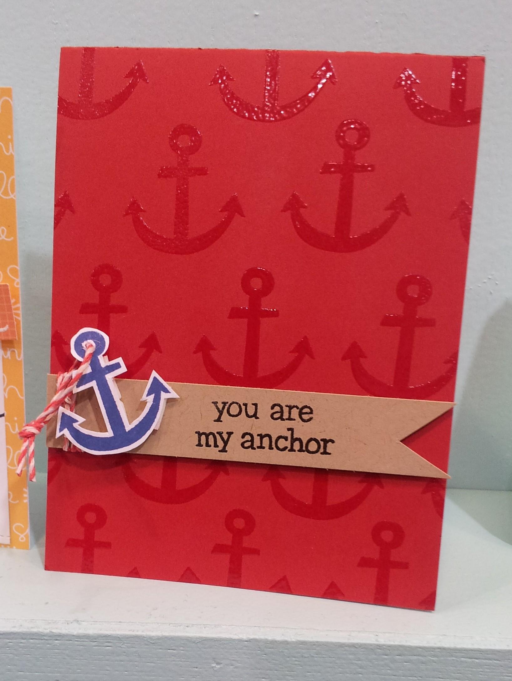 Anchor's Away Card