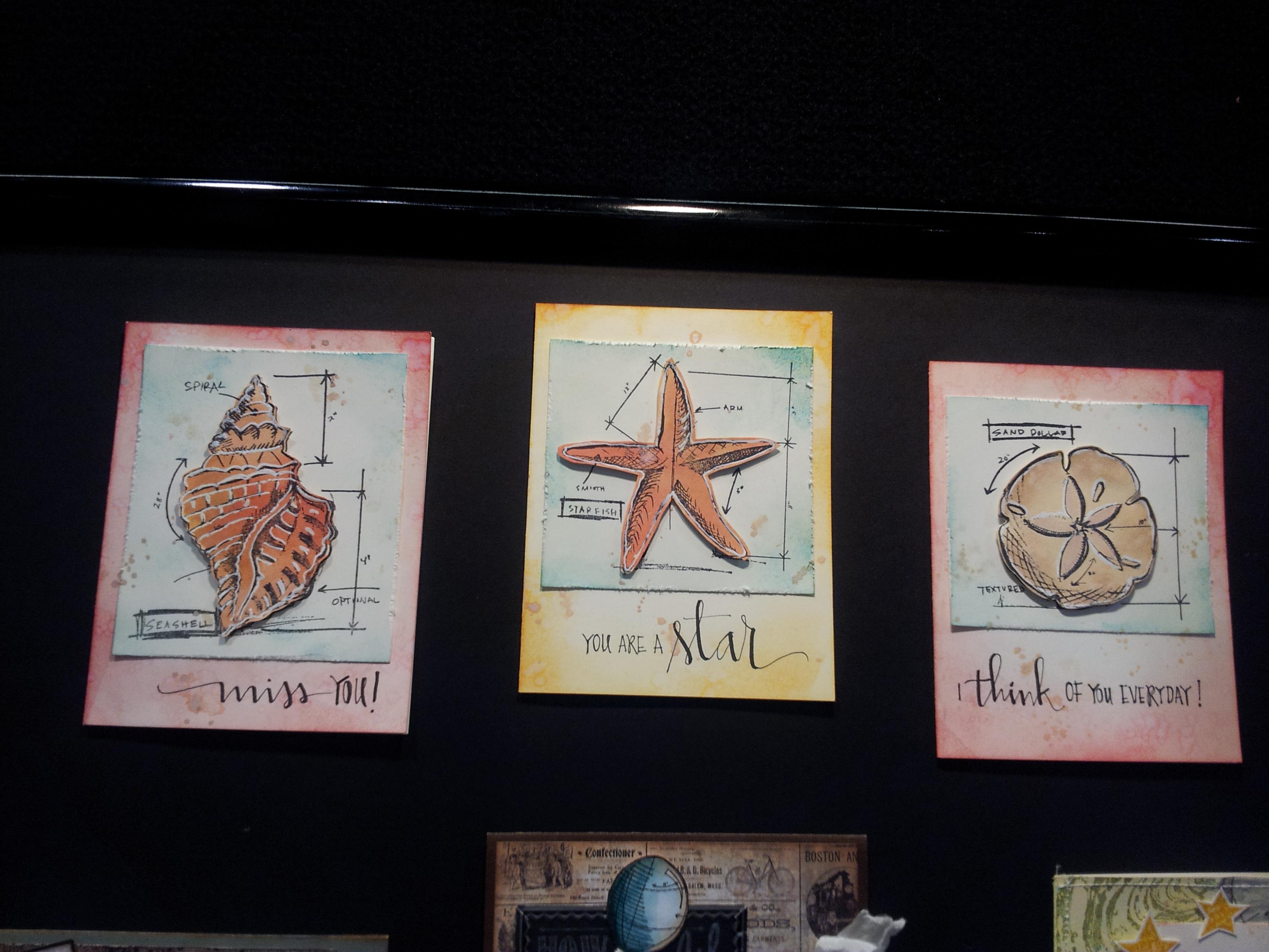 Sea Shell Cards