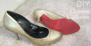DIY Christian Louboutin Glitter Pumps