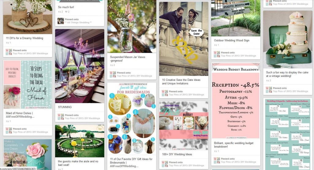 AllFreeDIYWeddings Pinterest Board