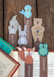 Printable-Woodland-Creature-Bookmarks