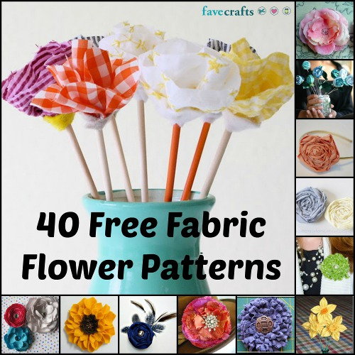 40 free fabric flower patterns 40 Free Fabric Flower Patterns