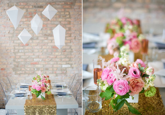 Geometric wedding inspiration 7 Wedding Trends: Opposites Attract