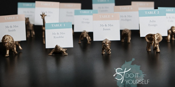 Gold Animal Escort Card Holders