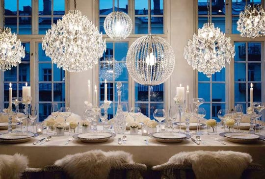 White Wedding Decor Wedding Trends: Opposites Attract