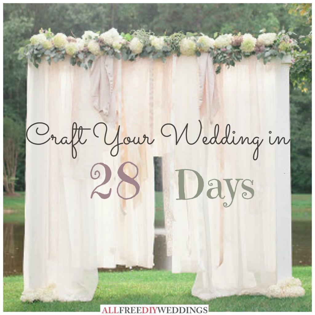 national wedding month craft your wedding in 28 days. Black Bedroom Furniture Sets. Home Design Ideas
