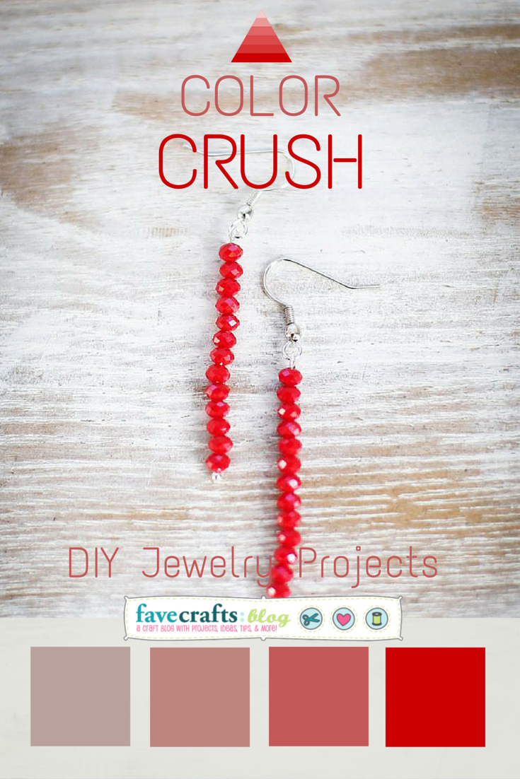 diy jewelry projects Color Crush Red: 5 DIY Jewelry Projects