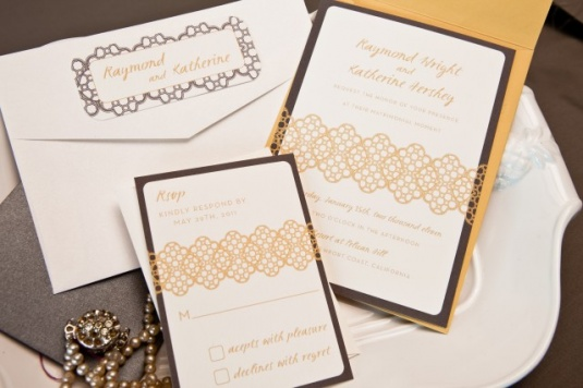 modern vintage wedding invitations 10 Wedding Trends: Opposites Attract