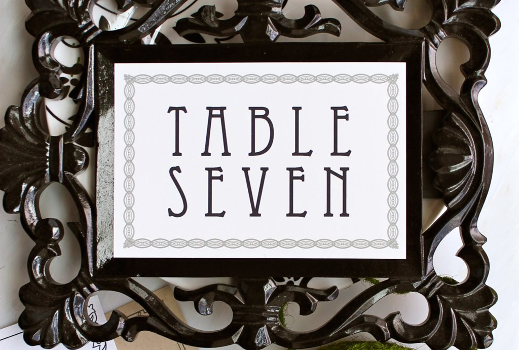 modern vintage wedding reception table numbers.full  Wedding Trends: Opposites Attract