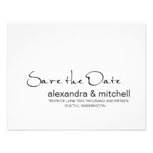 modern save the date announcements minimalist invitation p161121466495462635z70be 310 Wedding Trends: Opposites Attract