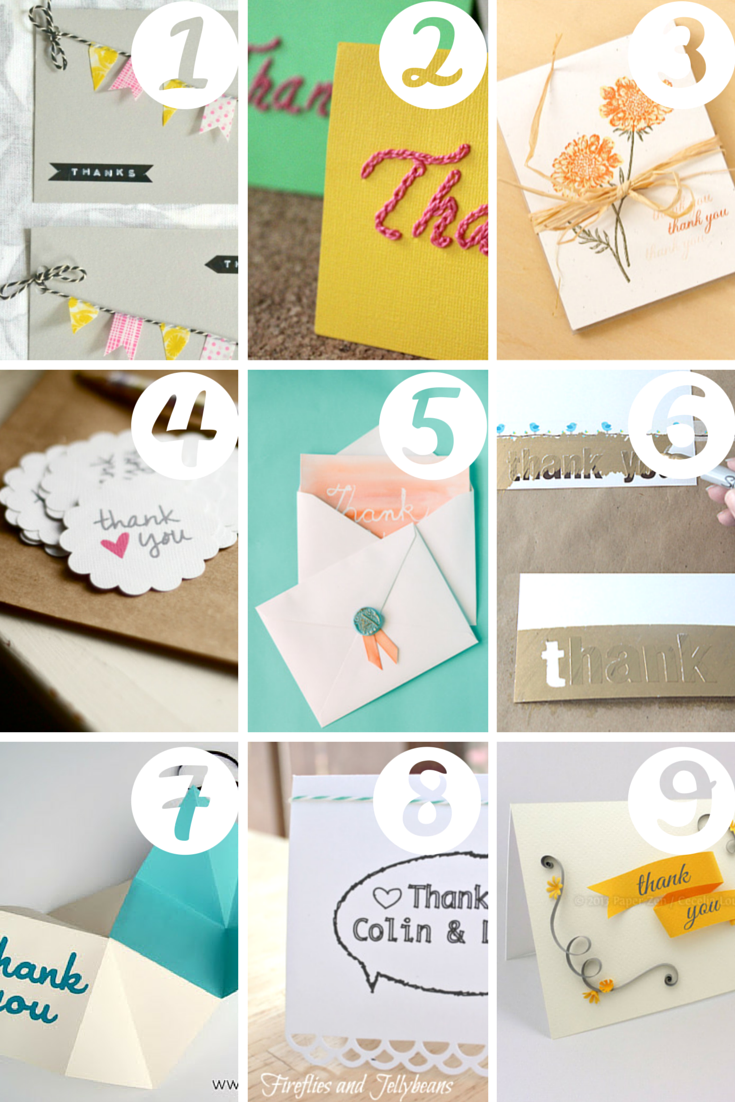 thank you note diy crafts Link Love: Crafty Ways to Say Thanks