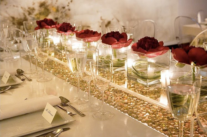 wedding centerpiece 34 Wedding Trends: Opposites Attract