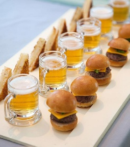Little Sliders and Tiny Beer Mugs