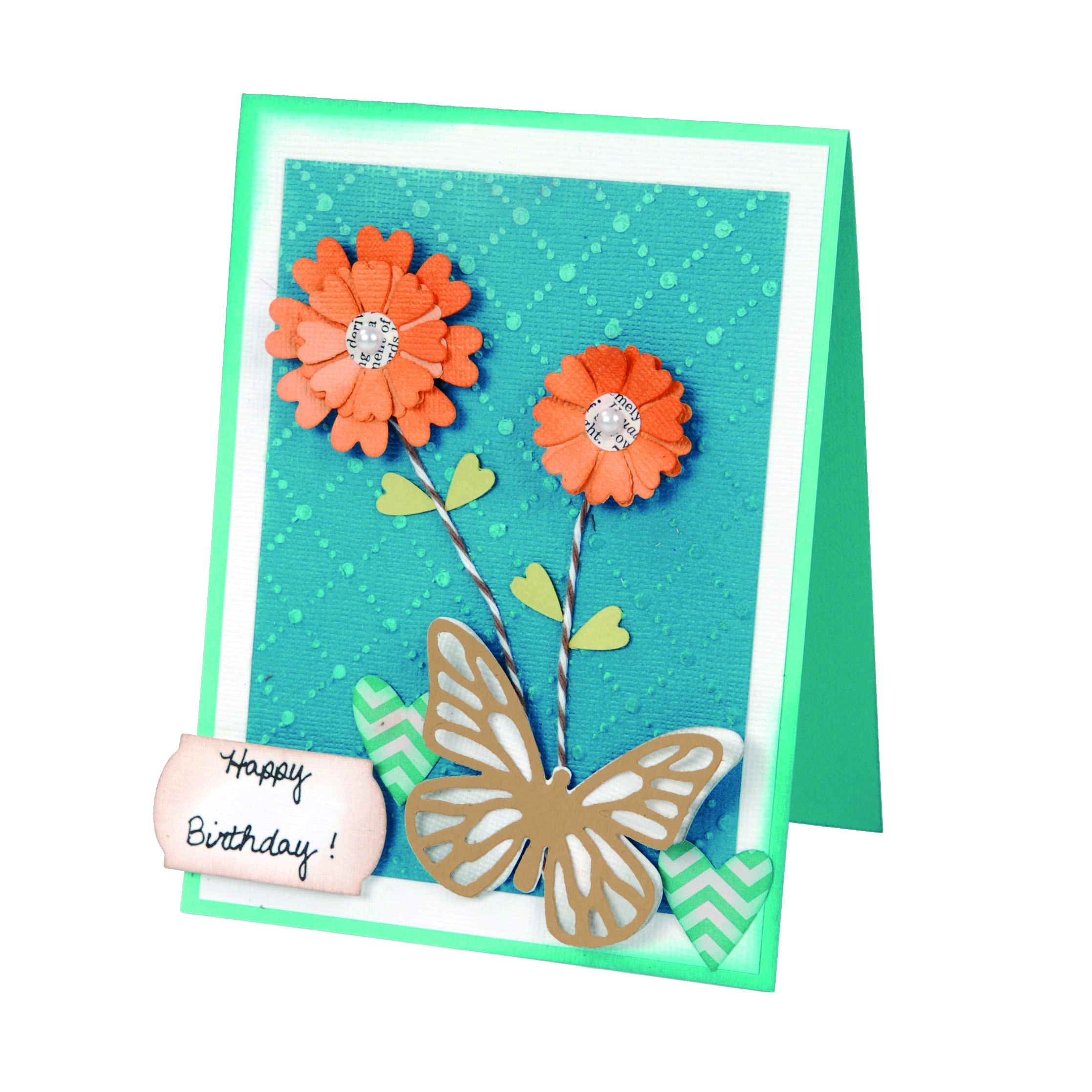 Blooming Butterflies And Flowers Birthday Card: National