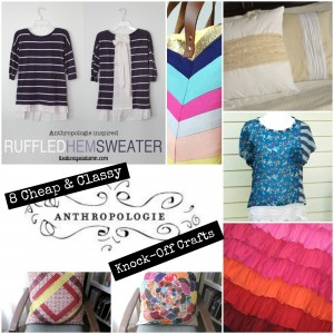 50+ Cheap & Classy Anthropologie Knock-Off Crafts