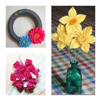Fabric Flowers Burst Into Spring: 16 Flower Crafts