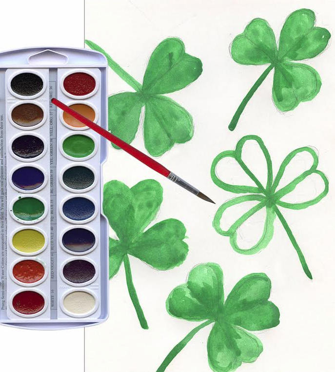 how to draw a shamrock 3 St. Patricks Day Crafts: How to Draw a Shamrock