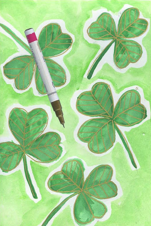 how to draw a shamrock 5 St. Patricks Day Crafts: How to Draw a Shamrock