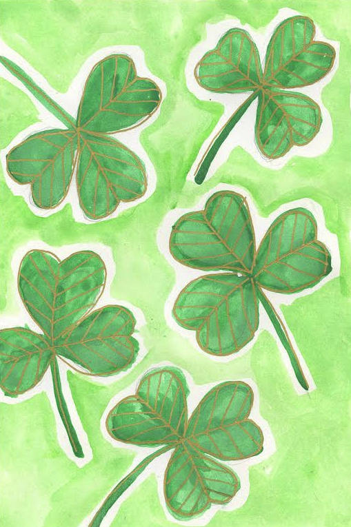 how to draw a shamrock final St. Patricks Day Crafts: How to Draw a Shamrock