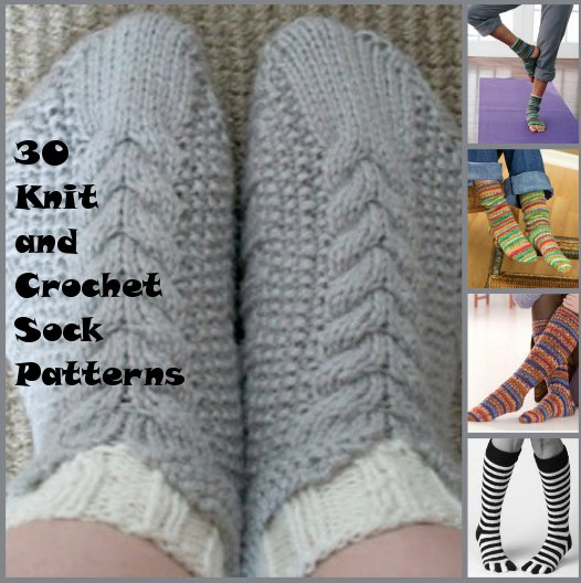 knit and crochet socks 30+ Knit and Crochet Sock Patterns