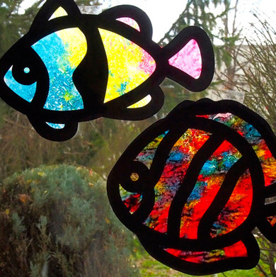Melted Crayon Animal Suncatchers